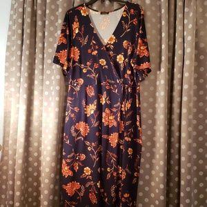 Wrap Maxi Dress Xl